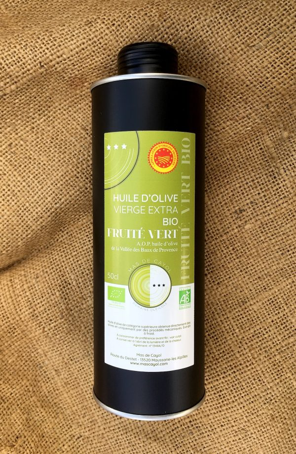 huile BIO fruité vert maussane