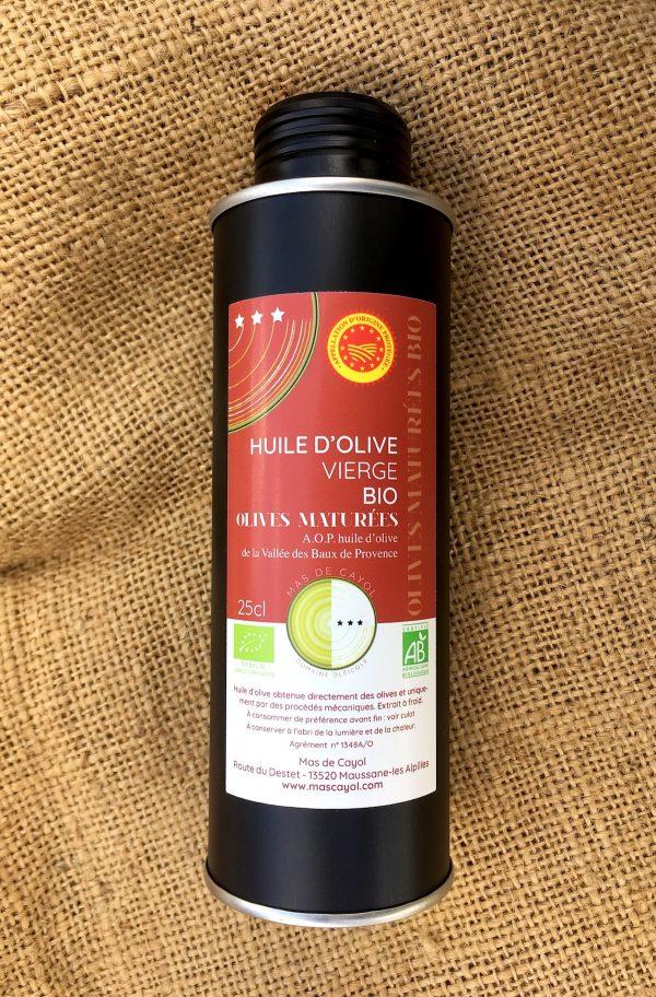 huile BIO olives maturées maussane
